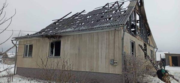 В родини поліцейських згорів будинок