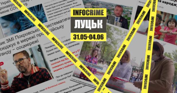 Маніпулятивні заголовки, політика та коронавірус: дайджест INFOCRIME Lutsk (31 травня – 4 червня)