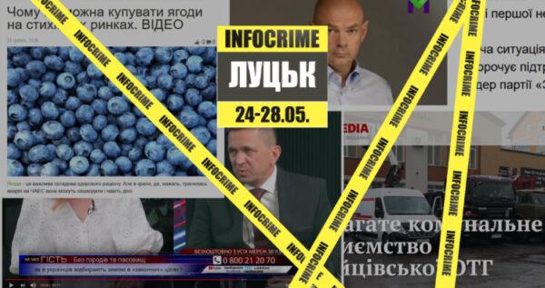 Про що маніпулювали у волинських медіа: дайджест INFOCRIME Lutsk (24-28 травня)